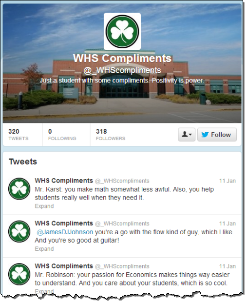 WHSCompliments Twitter Account