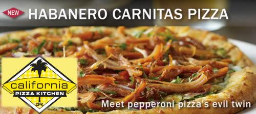 California Pizza Kitchen - Habanero Carnitas Pizza