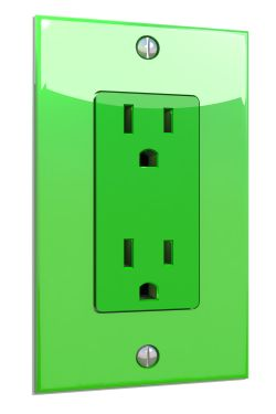 Green Electric Plug
