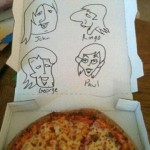 Beatles Pizza Box Art in Greenwood
