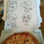 Beatles Pizza Box Art in Greenwood