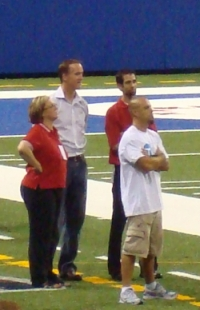 Peyton Manning on the Sidelines
